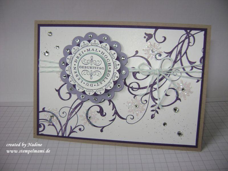 Eine Geburtstagskarte Basteln Mit Stampinup