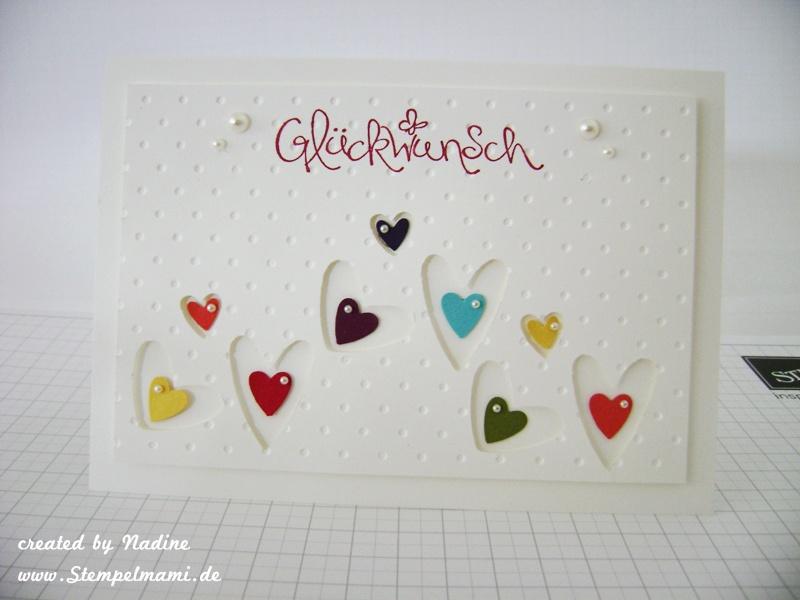 Ganz simpel und mit vielen herzchen basteln mit stampin up - Geburtstagskarte basteln kinder ...