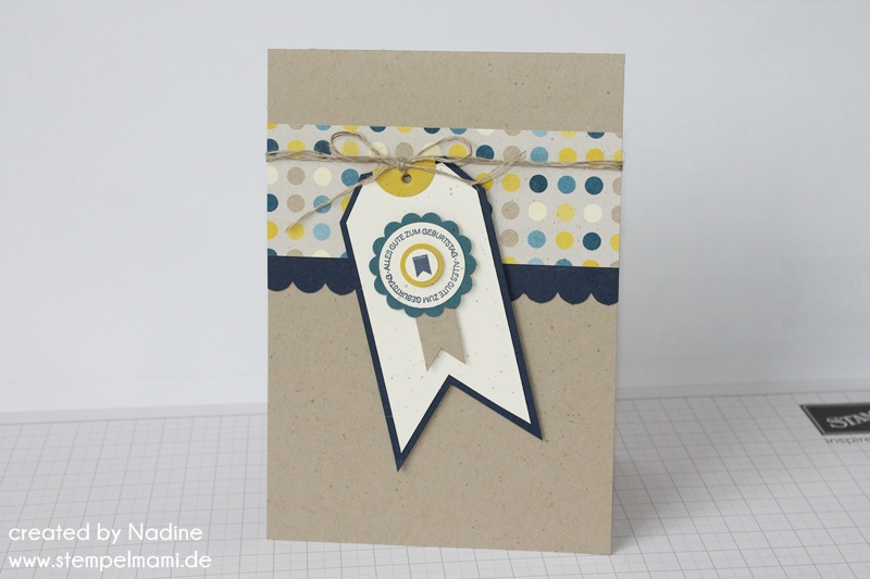 Geburtstagskarten Selber Machen Fur Manner.Eine Geburtstagskarte Basteln Mit Stampin Up