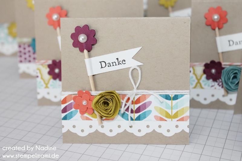 Mini Dankeskarten - Stampin Up! mit Stempelmami