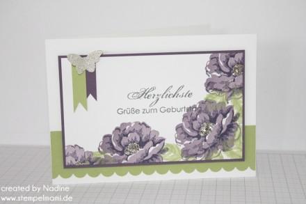 Geburtstagskarte Birthday Card Stampin Up Stippled Blossoms www.stempelmami.de 013