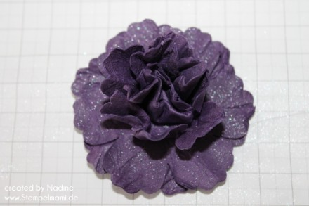 Anleitung Tutorial Mixed Bunch Blume Stampin Up Paper Flower 006