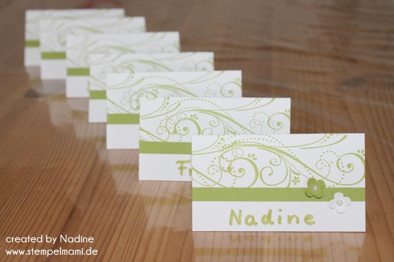 Tischkarten zur kommunion basteln mit stampin up - Namensschilder basteln taufe ...