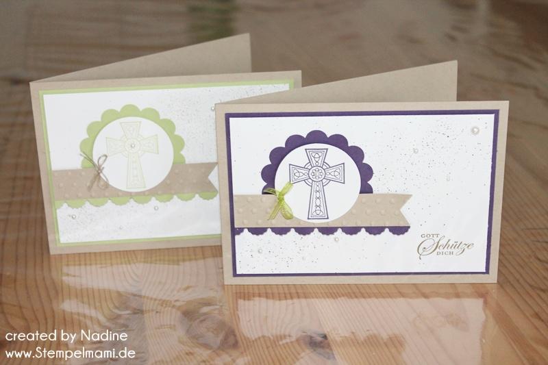 Kommunion oder konfirmationskarten basteln mit stampin up - Kommunion karten selber basteln ...