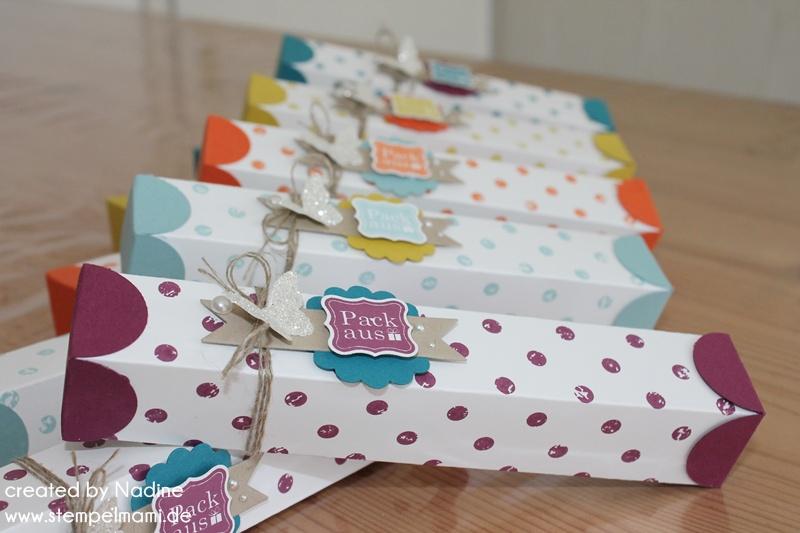 Top Verpackung Box Stampin Up Schachtel Give Away 025 - Basteln mit PB06