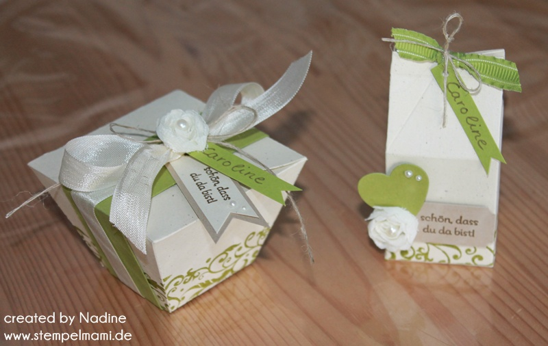 Zwei Give Aways Zur Hochzeit Basteln Mit Stampinup
