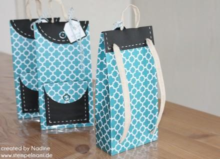 Verpackung Box Stampin Up Rucksack Backpack Bag Schachtel Give Away 006
