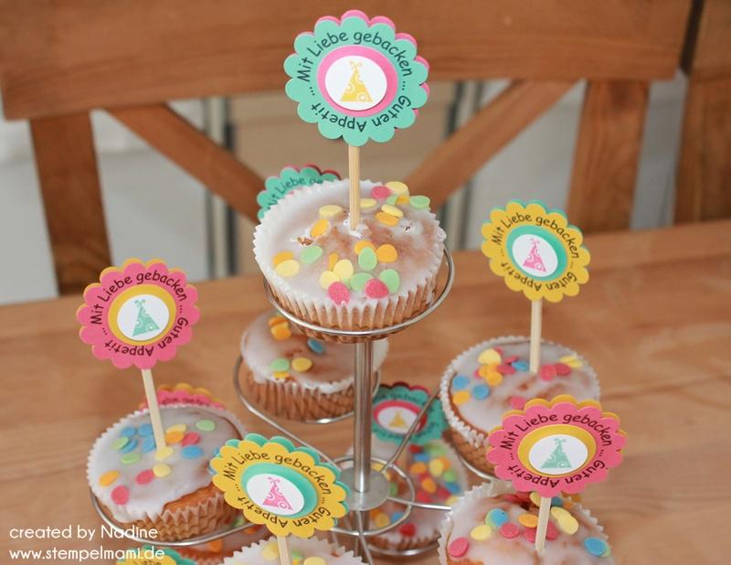 Party oder dekostecker basteln mit stampin up - Dekoration muffins ...