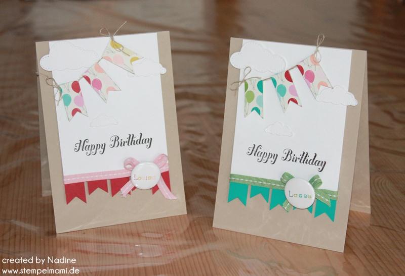 Zwillinge basteln mit stampin up - Geburtstagskarte basteln kinder ...