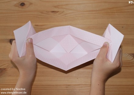 Anleitung Tutorial Origami Tasche Stampin Up Box Goodie Swap 037