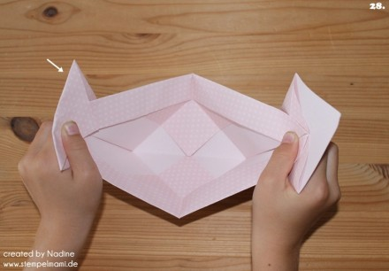 Anleitung Tutorial Origami Tasche Stampin Up Box Goodie Swap 038