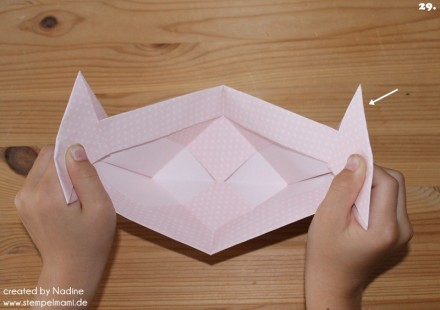Anleitung Tutorial Origami Tasche Stampin Up Box Goodie Swap 040