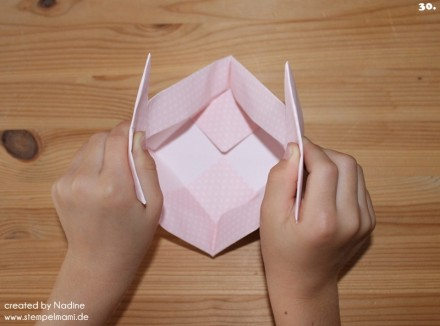 Anleitung Tutorial Origami Tasche Stampin Up Box Goodie Swap 041