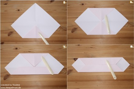 Anleitung Tutorial Origami Tasche Stampin Up Box Goodie Swap 049
