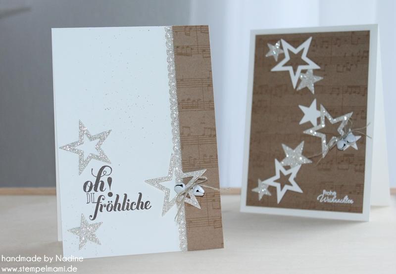 Edle Weihnachtskarten Basteln.Adventskalender 12 Tür Basteln Mit Stampin Up