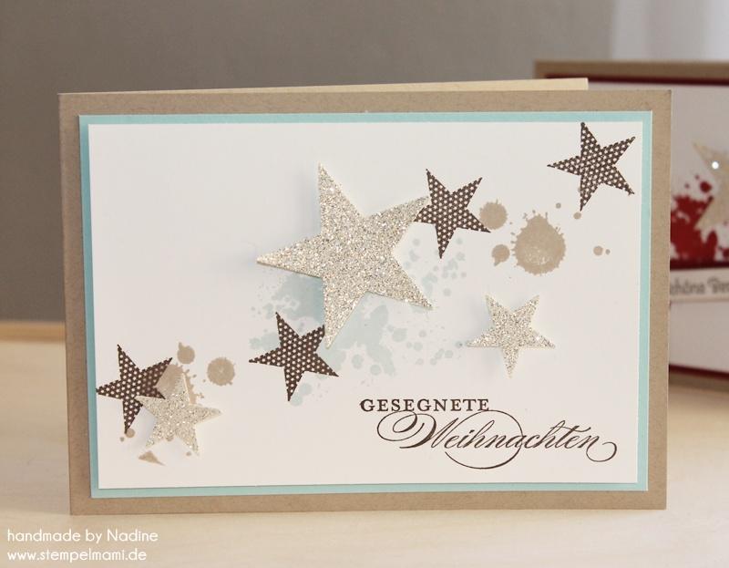 Weihnachtskarten Mit Sternen Basteln.Adventskalender 13 Tür Basteln Mit Stampin Up
