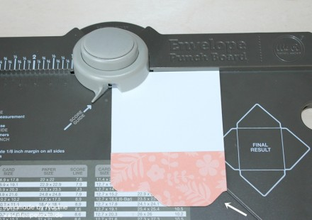 Anleitung Tutorial Stampin Up File Folder Card Envelope Punch 011