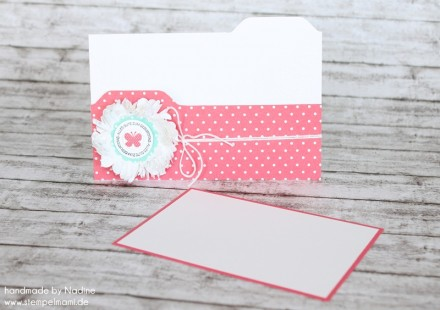 Box Stampin Up Envelope Punch Board File Folder Card Candy Wrapp 032