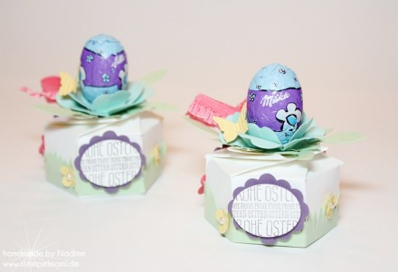 Goodie Stampin Up Ostern Easter Box Hexagon Box 004