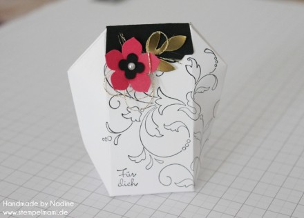 Anleitung Tutorial Stampin Up Box Verpackung One Sheet Box Goodi 001