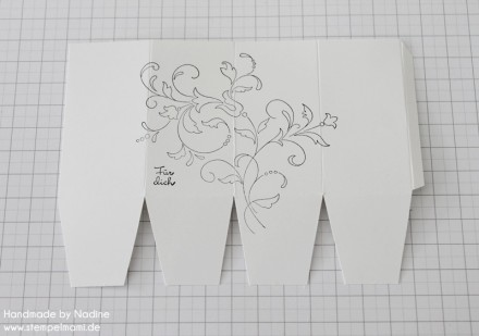 Anleitung Tutorial Stampin Up Box Verpackung One Sheet Box Goodi 012