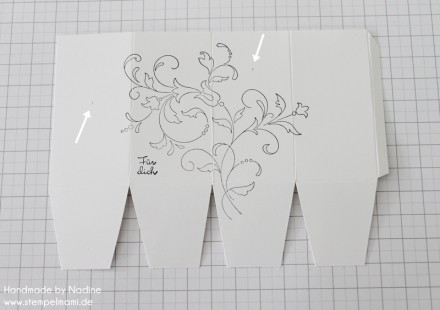 Anleitung Tutorial Stampin Up Box Verpackung One Sheet Box Goodi 014