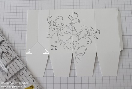 Anleitung Tutorial Stampin Up Box Verpackung One Sheet Box Goodi 016
