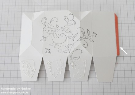 Anleitung Tutorial Stampin Up Box Verpackung One Sheet Box Goodi 023