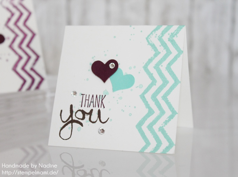 stampin up dankeskarte danke karte minicard thank you card 007 basteln mit stampin up. Black Bedroom Furniture Sets. Home Design Ideas