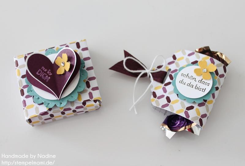 Anleitung Tutorial Box und Goodie mit dem Stanz – und Umschlagbrett