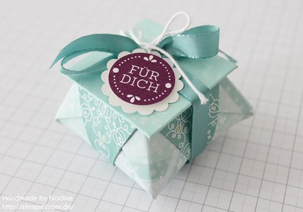 Stampin Up Anleitung Tutorial Origami Box mit Deckel