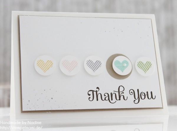 Stampin Up Dankeskarte Danke Karte Minicard Thank You Card 032
