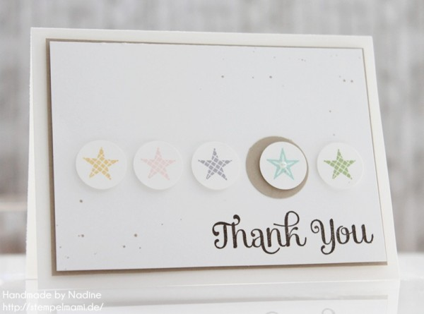 Stampin Up Dankeskarte Danke Karte Minicard Thank You Card 033