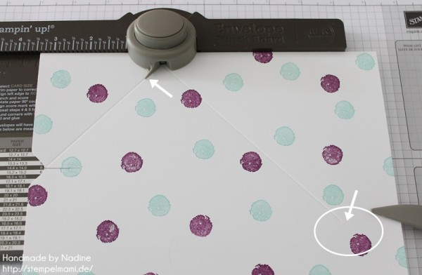 Anleitung Tutorial Stampin Up Umschlag Envelope Punch Board 012