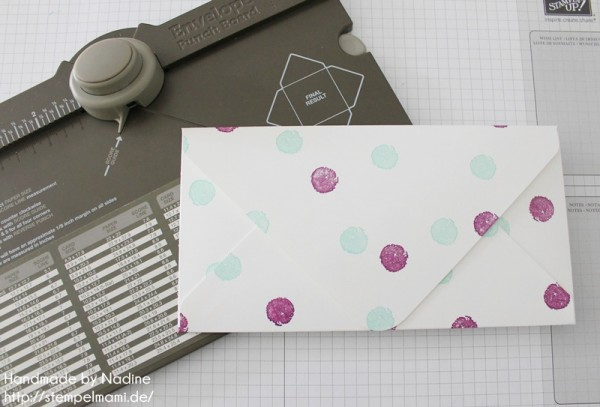 Anleitung Tutorial Stampin Up Umschlag Envelope Punch Board 055