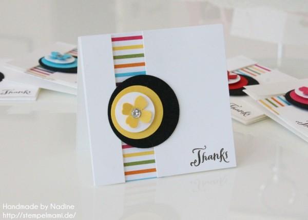 Dankeskarte Stampin Up Karte Grusskarte Greeting Card Mini Card 015