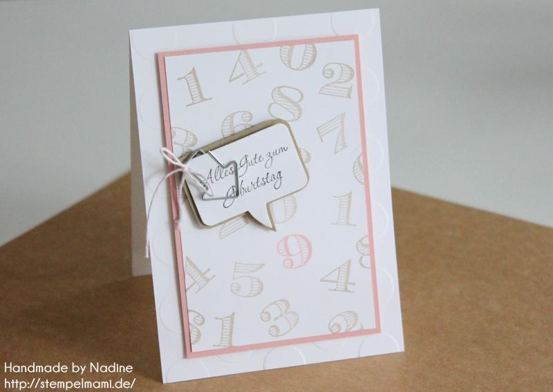 Geburtstagskarte für mädchen basteln mit stampin`up