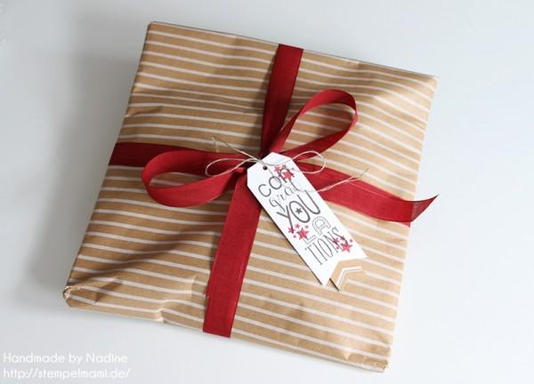 Geschenke Stampin Up sandfarbenes Designer Geschenkpapier Festtage Gastgeschenke Box Goodie Give Away 033