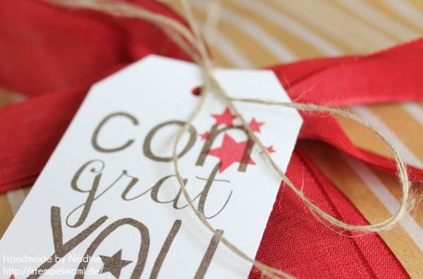 Geschenke Stampin Up sandfarbenes Designer Geschenkpapier Festtage Gastgeschenke Box Goodie Give Away 049