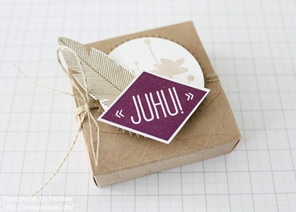 Anleitung Tutorial Box Umschlaege fuer Geschenkkarten Stampin Up Schachtel Verpackung Stempelset Heiteres Hurra 023