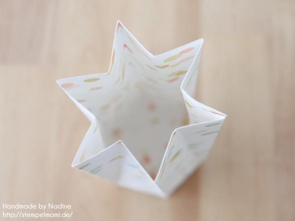Anleitung Tutorial Sternenbox Box Schachtel Verpackung Star Box 046