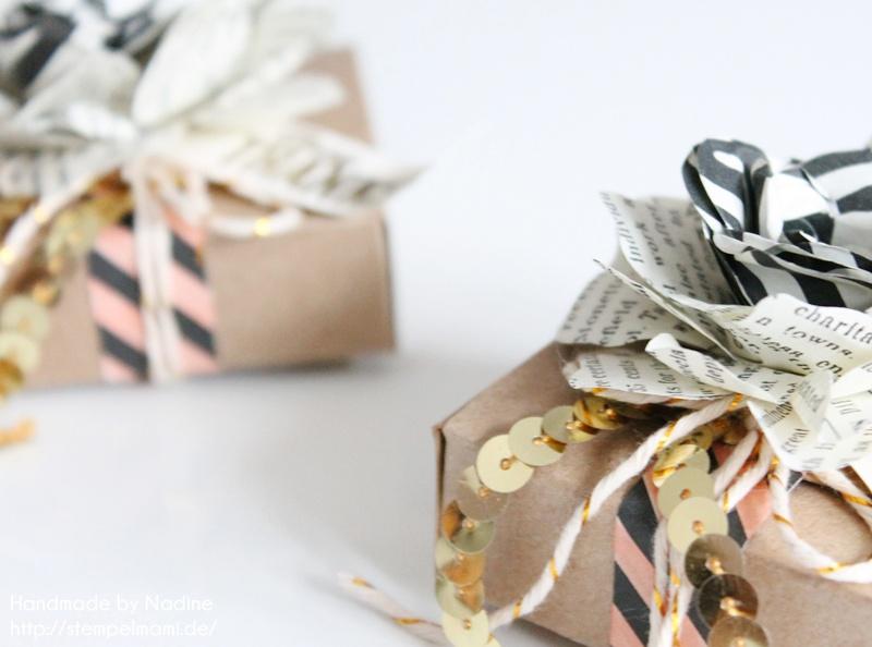 Süße Boxen aus den Umschlägen für Geschenkkarten