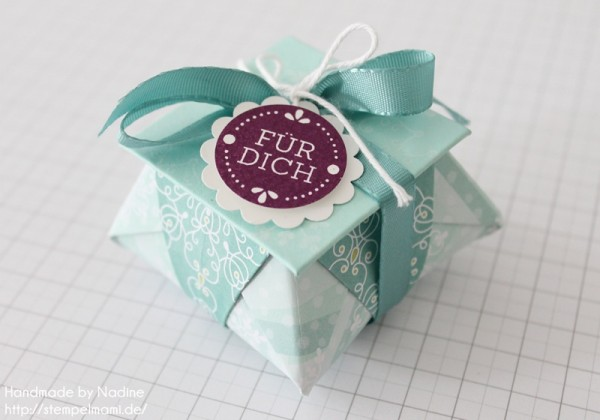 Stampin Up Anleitung Tutorial Origami Box Schachtel Verpackung Star Box 001