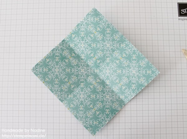 Stampin Up Anleitung Tutorial Origami Box Schachtel Verpackung Star Box 006