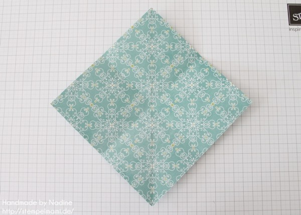 Stampin Up Anleitung Tutorial Origami Box Schachtel Verpackung Star Box 009
