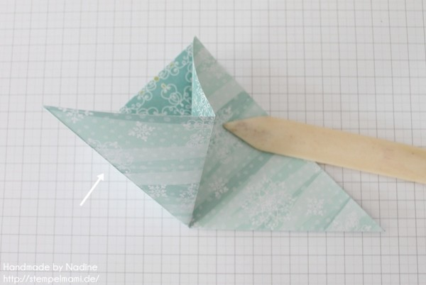 Stampin Up Anleitung Tutorial Origami Box Schachtel Verpackung Star Box 012