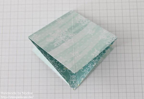Stampin Up Anleitung Tutorial Origami Box Schachtel Verpackung Star Box 025