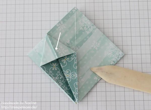 Stampin Up Anleitung Tutorial Origami Box Schachtel Verpackung Star Box 028