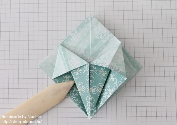 Stampin Up Anleitung Tutorial Origami Box Schachtel Verpackung Star Box 031
