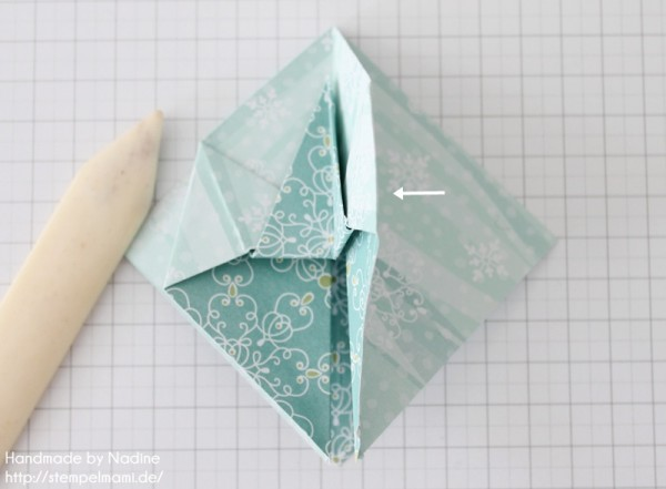 Stampin Up Anleitung Tutorial Origami Box Schachtel Verpackung Star Box 040